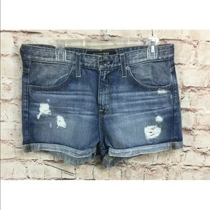 Big Star Size 31 Blue Jean Shorts Distressed